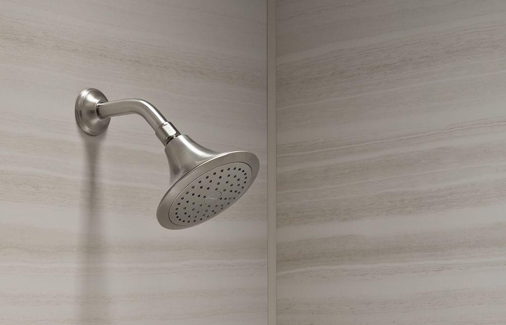 brushed nickel showerhead