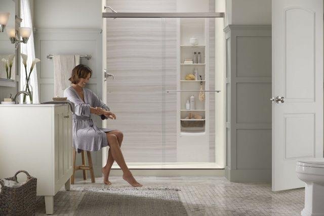Full view of Kohler LuxStone shower