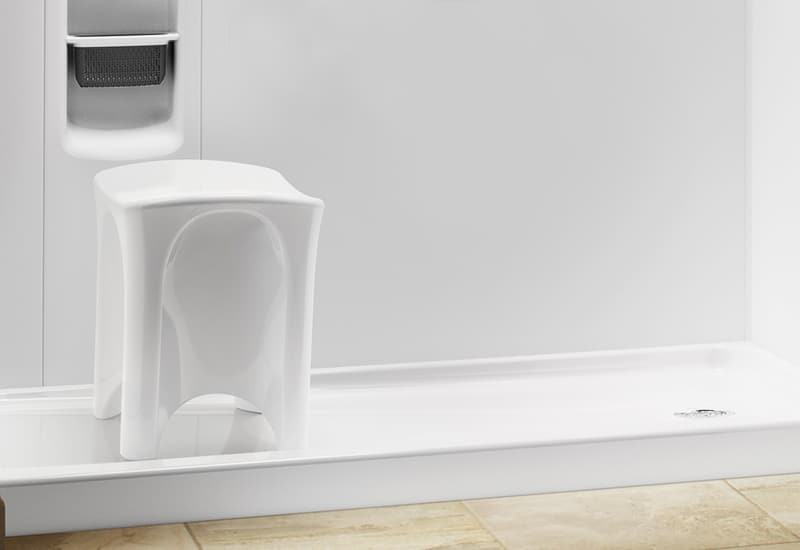 Moveable seat by Kohler LuxStone