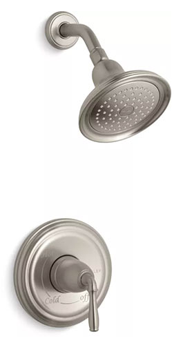 Brushed Nickel shower head