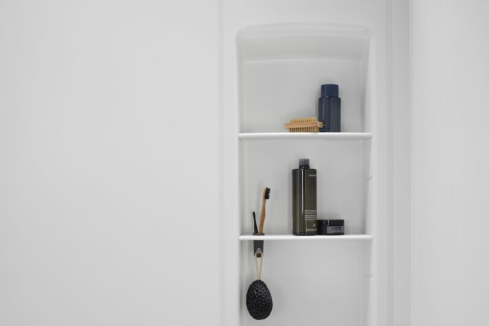 White Shower Locker by Kohler LuxStone
