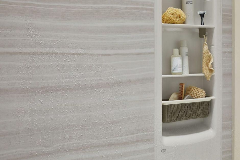 Veincut dune shower walls