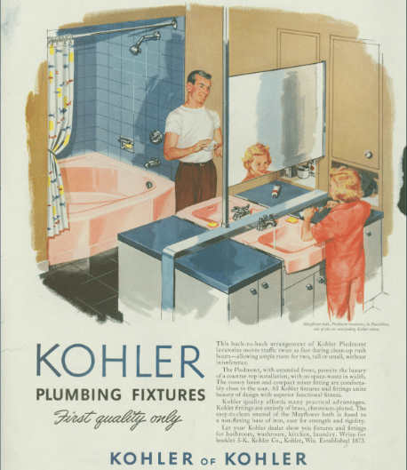 Kohler ad with dad and son