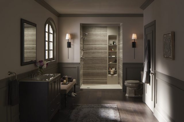 Luxe traditional bathroom design