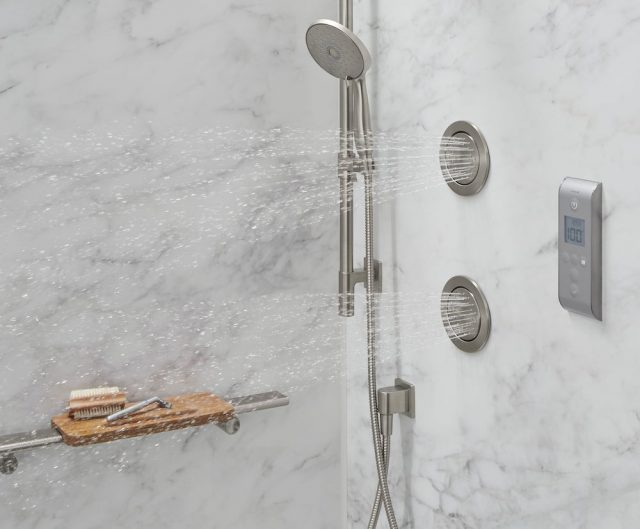 Body sprays in a Kohler LuxStone Shower
