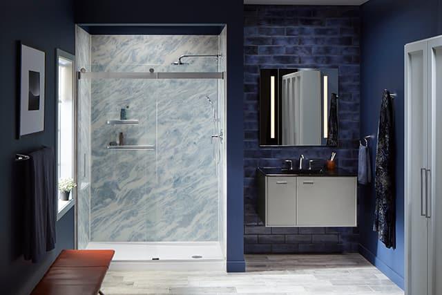 Bold contemporary bathroom