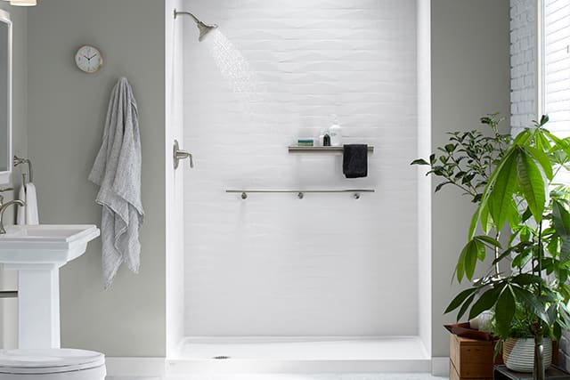 Photo of KOHLER LuxStone Shower with plant decor