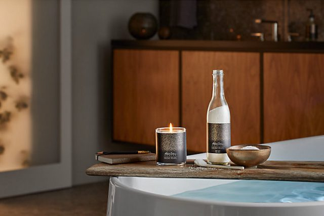 kohler candles on bathtub