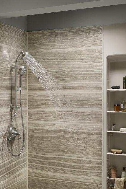 hydrorail in luxstone shower