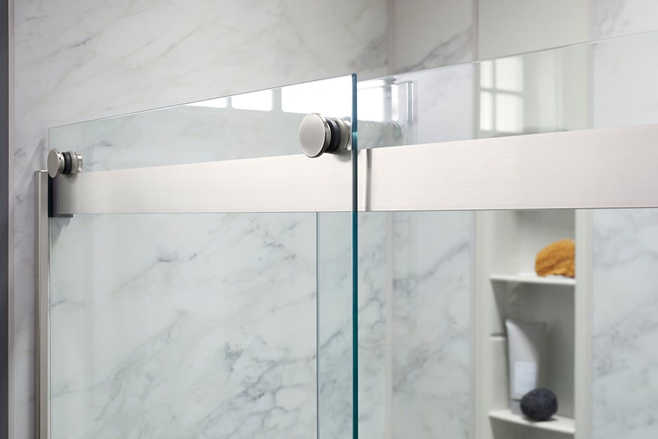Knob handle for glass shower door