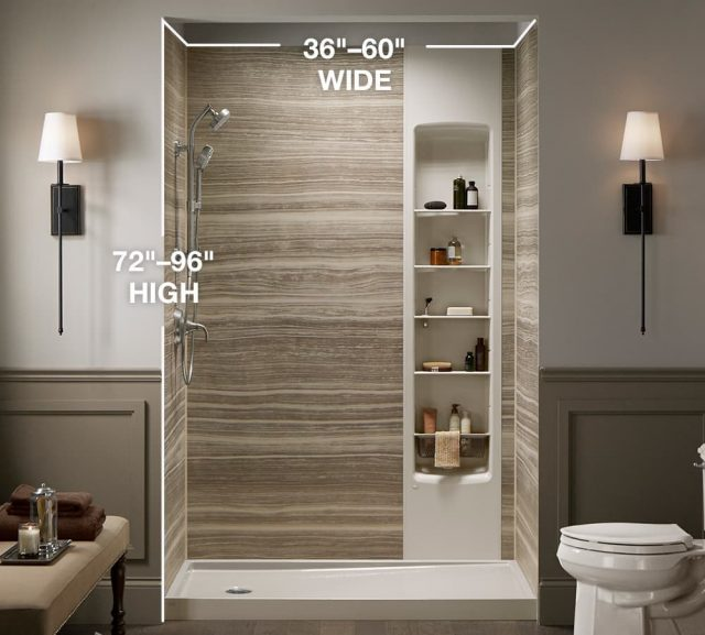 Shower wall dimensions