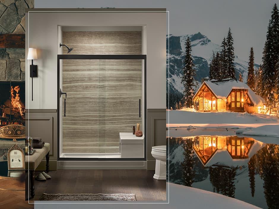 LuxStone Shower with Mountain Escape
