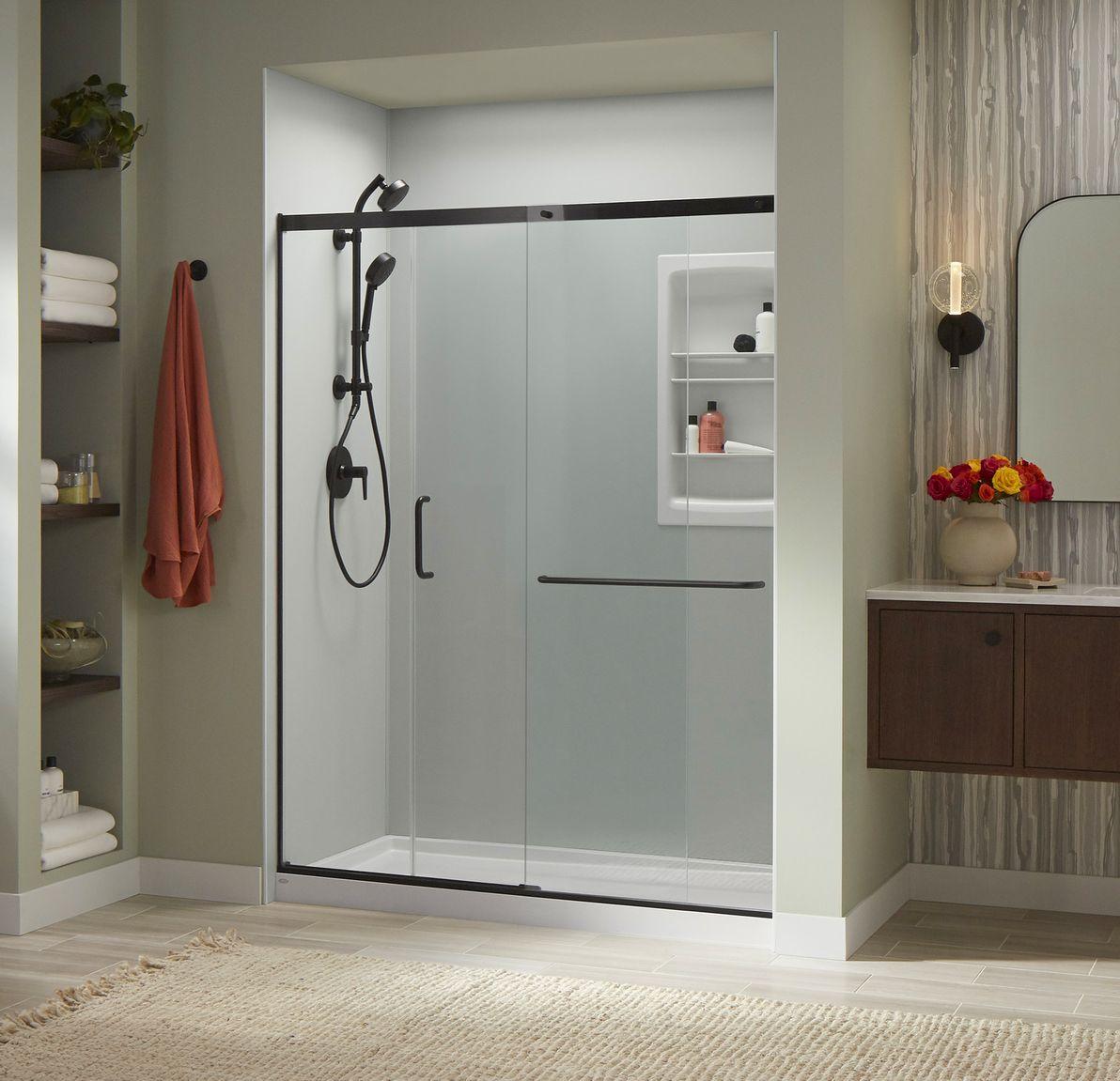 fall bathroom luxstone shower'