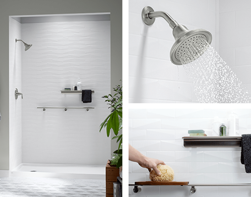 Shower Enclosure Kits | KOHLER® LuxStone Shower