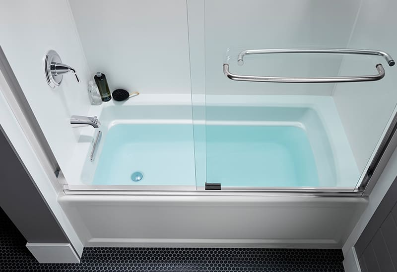 Archer Alcove Bath | KOHLER® LuxStone Shower