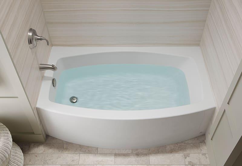 Expanse Alcove Bath | KOHLER® LuxStone Shower