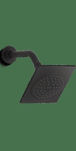 Contemporary Showerhead in Matte Black