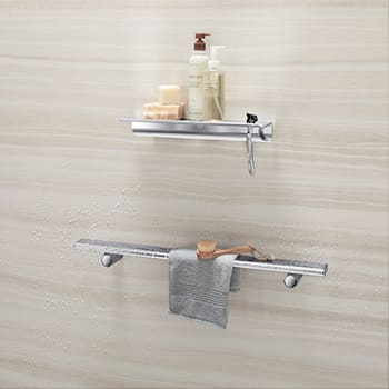 Shower Barre and Floating Shelf