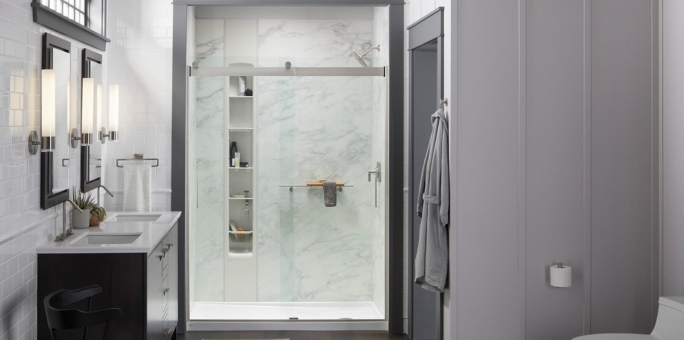 Walk In Shower Designs Design Ideas Kohler Luxstone Showers