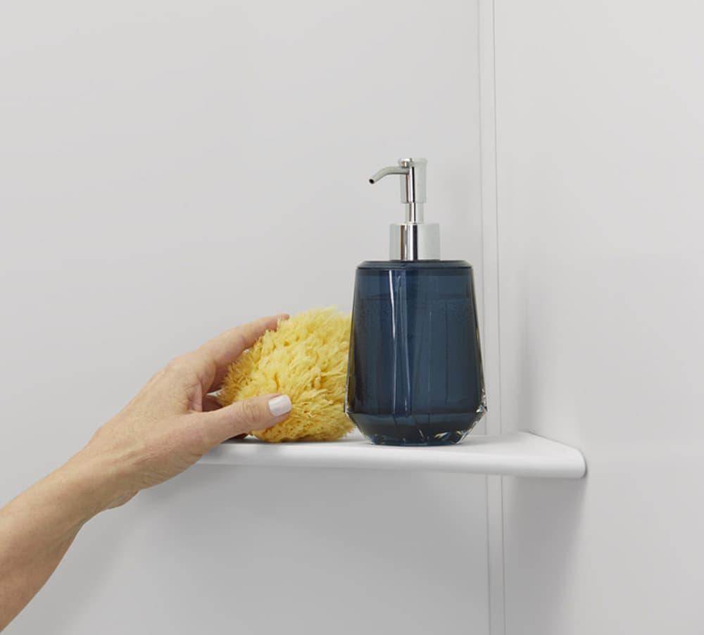 Corner Shelf | Shower Storage | KOHLER® LuxStone Shower