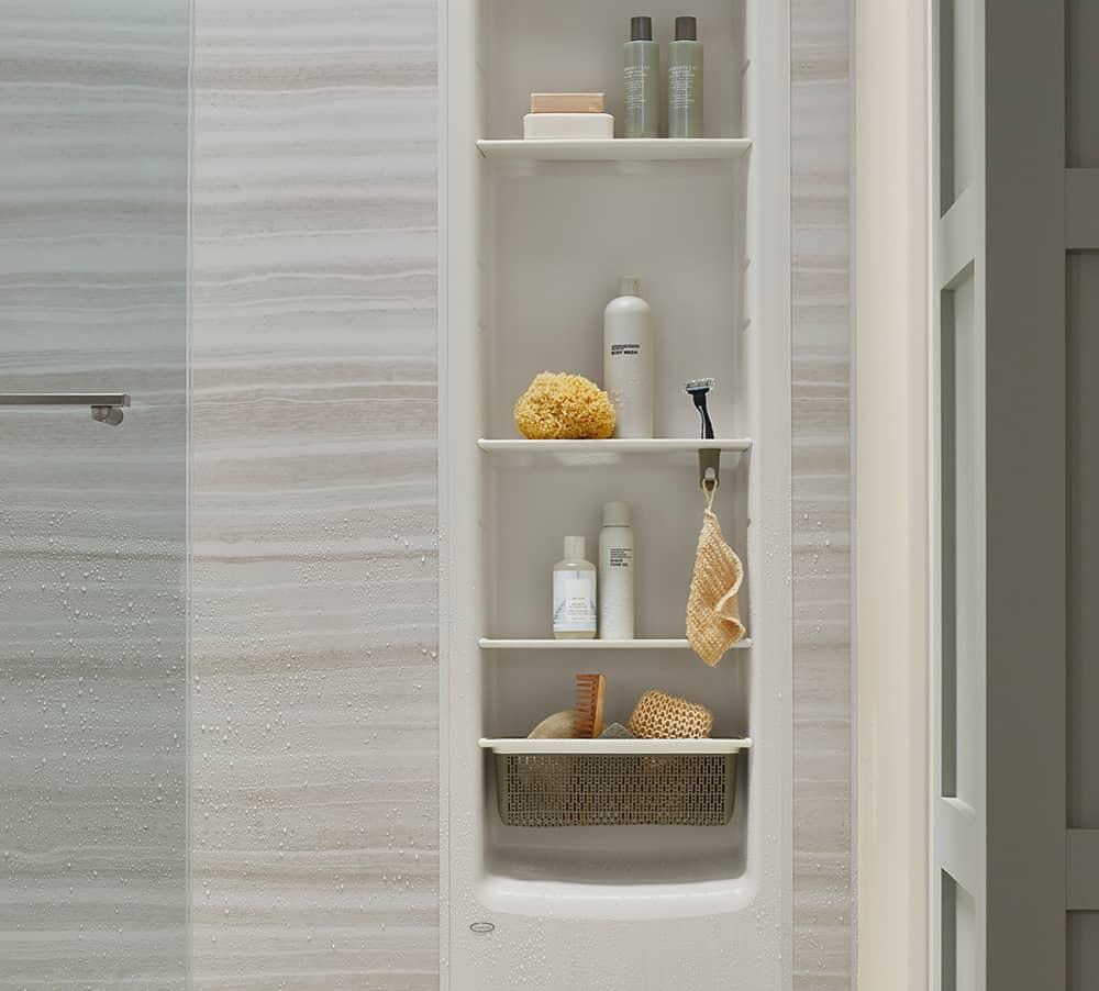 Shower Shelving | Shower Storage | KOHLER® LuxStone Shower
