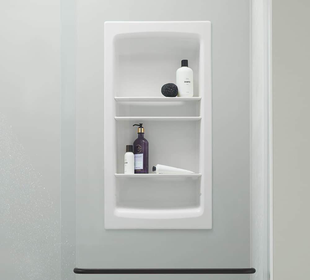 Shower Niche | Shower Storage | KOHLER® LuxStone Shower