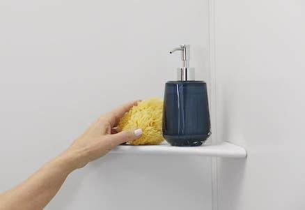 Shower Corner Shelving | KOHLER® LuxStone Shower Corner Shelf
