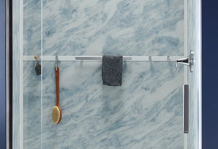 Shower Hooks | KOHLER® LuxStone Shower
