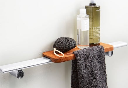 Shower Barre Teak Tray | KOHLER® LuxStone Shower