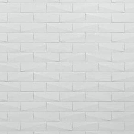 White Brick Shower Walls | KOHLER® LuxStone Shower Walls