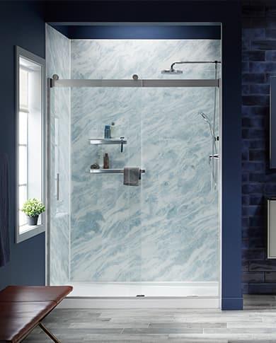 Bold Contemporary shower design